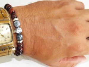 Howlite and Red Tiger Eye