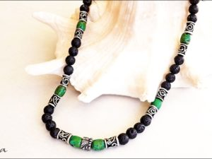 Lava and Green Howlite