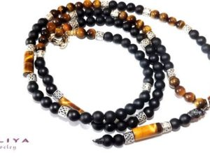 Long Tiger Eye Necklace