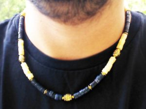 Mens Gemstone Necklace – Calcite & Sodalite Gemstone