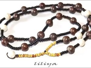 Mens Long Necklace – Jasper Beaded
