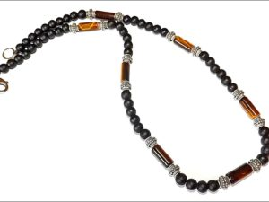 Onyx and Tiger Eye Choker