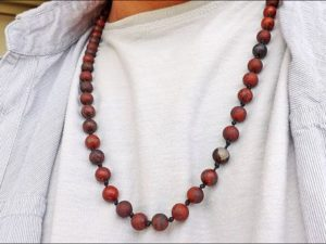 Red Jasper Long Necklace