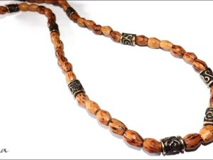 Wood Barrel Necklace